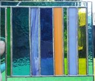 łowickie  niebiesko-zielony