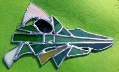 smokokrokodyl na zielonym
