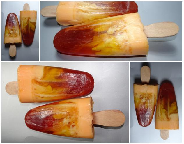 lody karmelowo brzoskwiniowe mydło